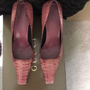 Pink Alligator TOM FORD GUcci Pump